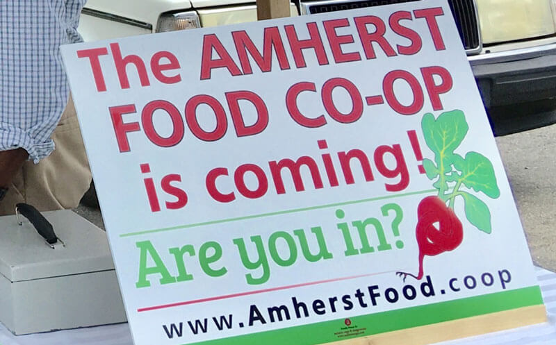 Amherst Food Co-op Lawn Sign - Are you in?
