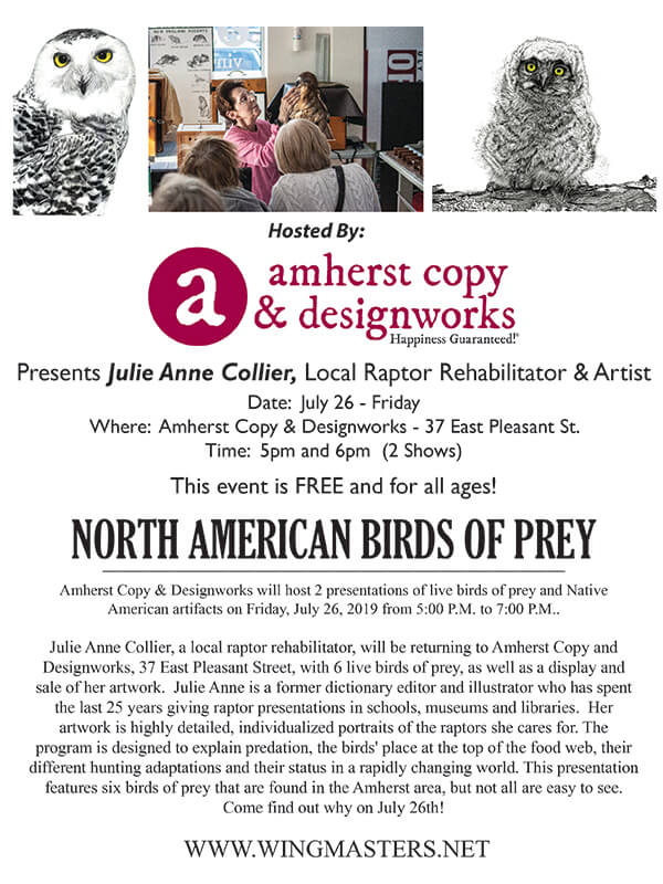 Event North American Birds Of Prey Common Share Food Co Op